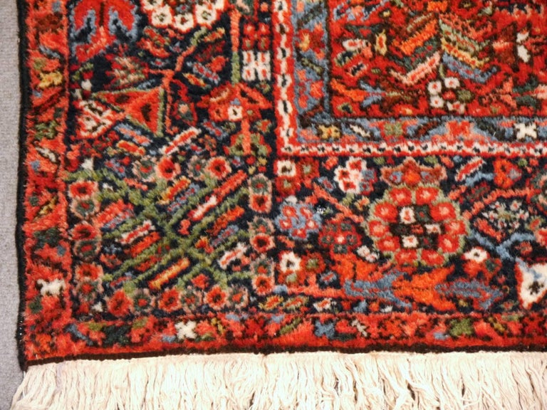 Hand-Knotted Heriz Persian Antique Rug For Sale