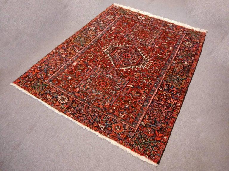 Wool Heriz Persian Antique Rug For Sale