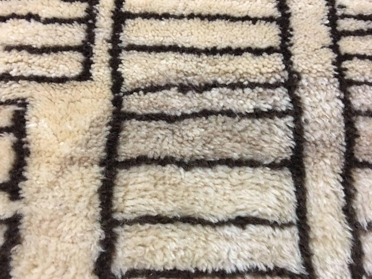 Hand-Knotted Beni Ourain Vintage Rug in