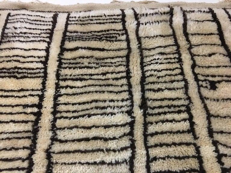 Wool Beni Ourain Vintage Rug in