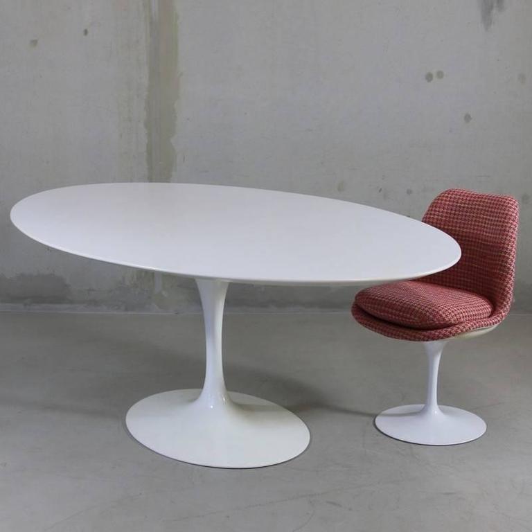 Oval SAARINEN Dining Table Knoll Cm At Stdibs - Tulip pedestal dining table