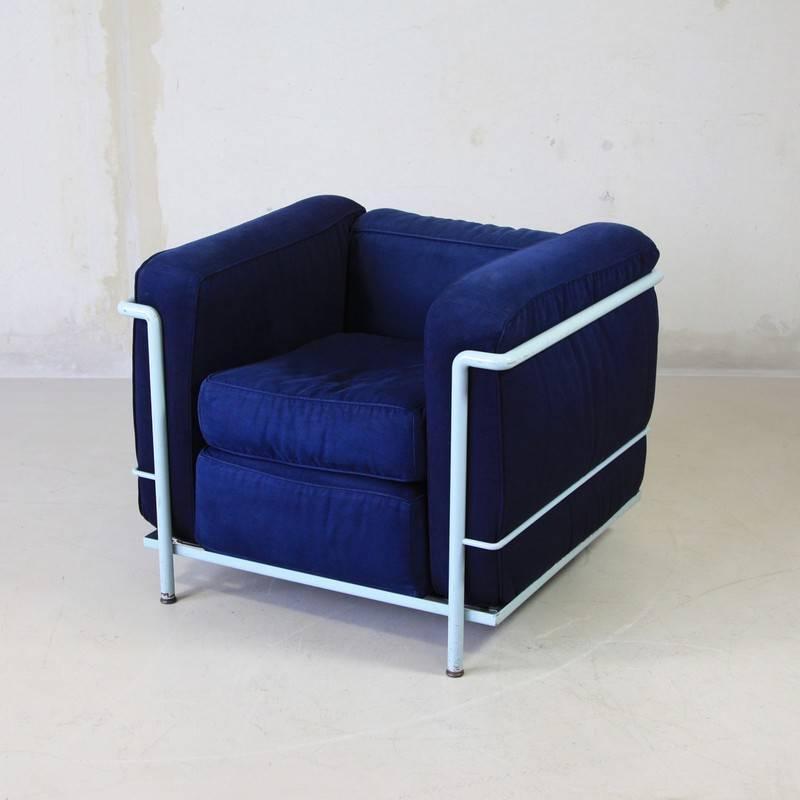LC2 Lounge Chair by Le Corbusier et Al Cassina 1970s at