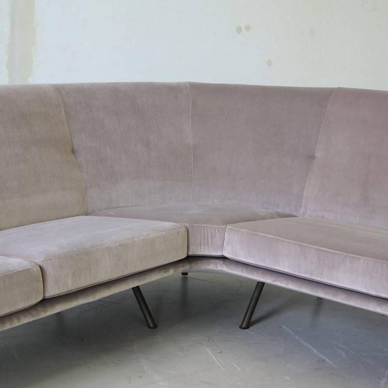 large corner sofa by marco zanuso at 1stdibs. Black Bedroom Furniture Sets. Home Design Ideas