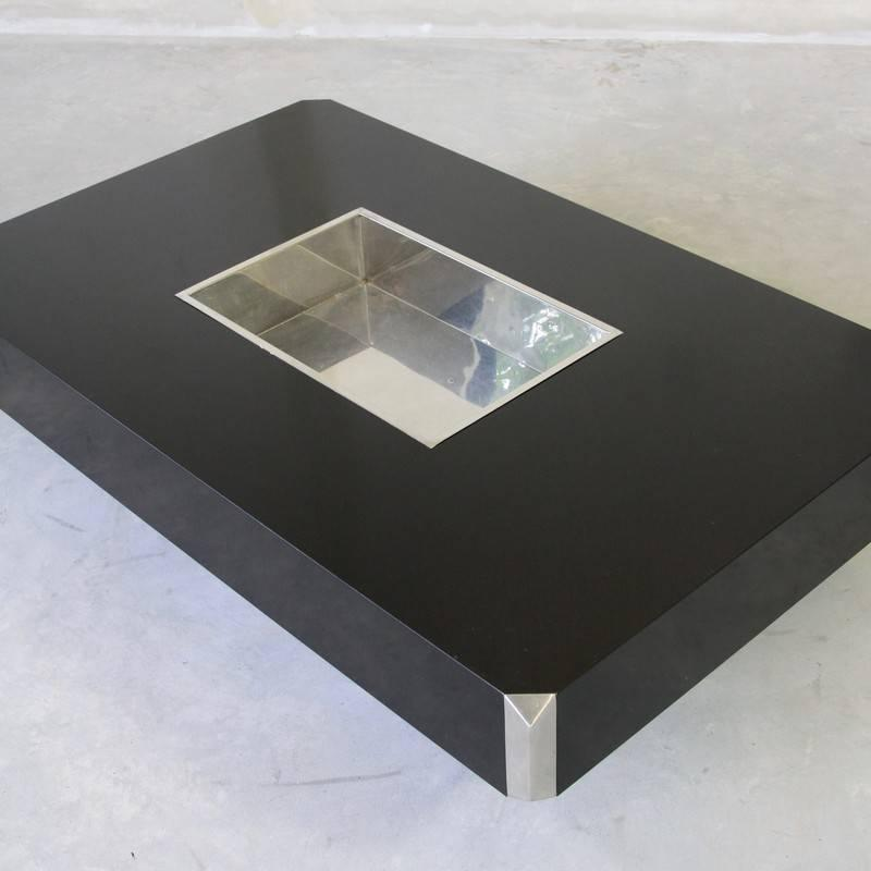 Willy Rizzo Coffee Table 39 Black 39 1970s For Sale At 1stdibs