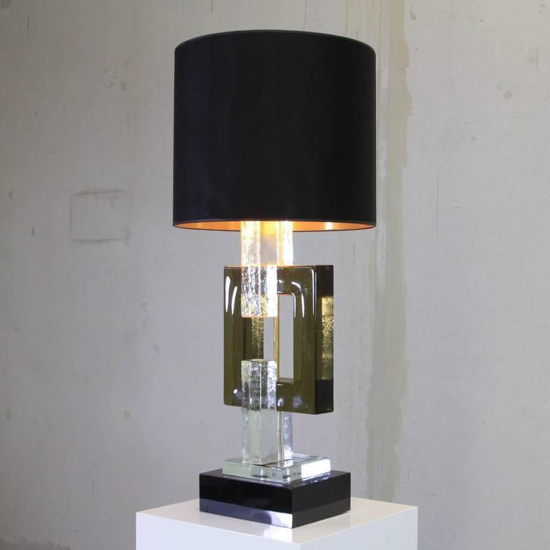 pair of murano glass table lamps italy for sale at 1stdibs. Black Bedroom Furniture Sets. Home Design Ideas