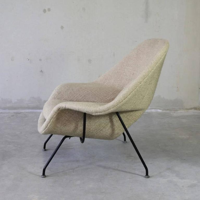 Original Eero Saarinen Womb Chair And Foot Stool Knoll