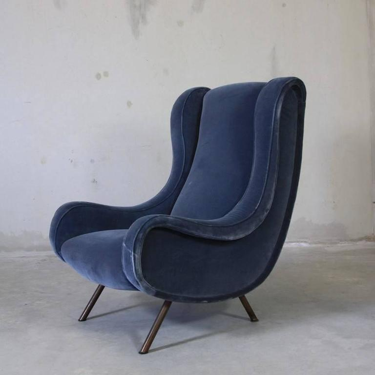 Modern Vintage Pair of Senior Chairs by Marco Zanuso For Sale