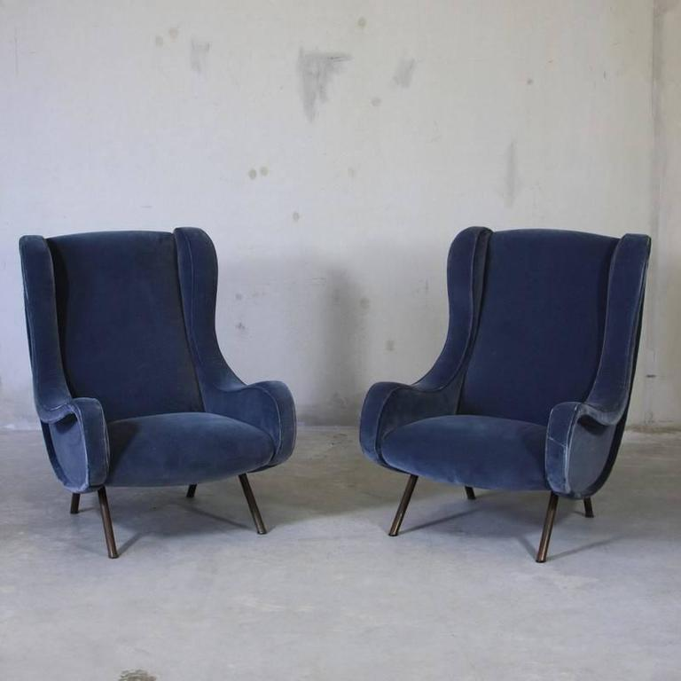 Mid-20th Century Vintage Pair of Senior Chairs by Marco Zanuso For Sale