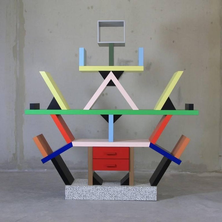 Modern Ettore Sottsass, Carlton Bookcase For Sale