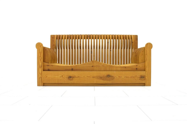 Mario ceroli 39 mobili della valle 39 sofa pine wood potronova italy 1966 for sale at 1stdibs - Wooden art mobili ...