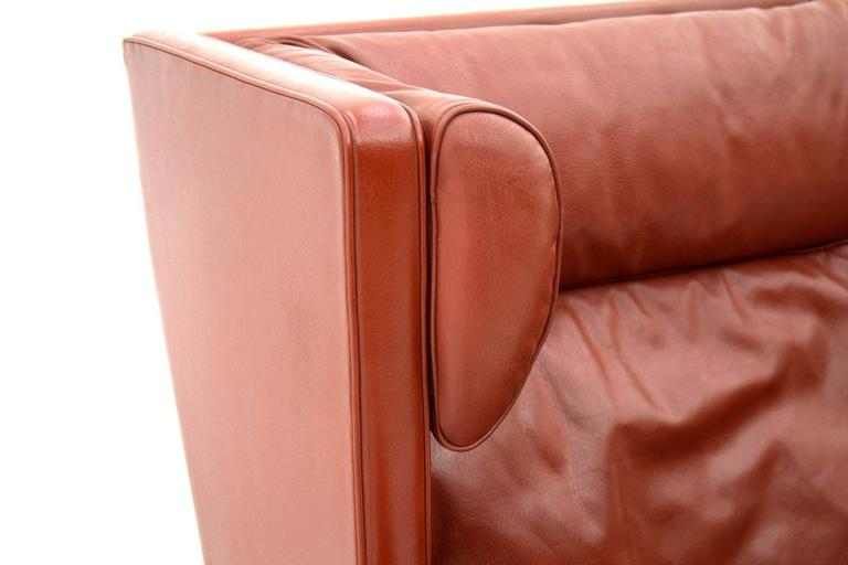 One of Two Børge Mogensen Coupe Leather Sofa, 2192, Frederica, Denmark 1971 3