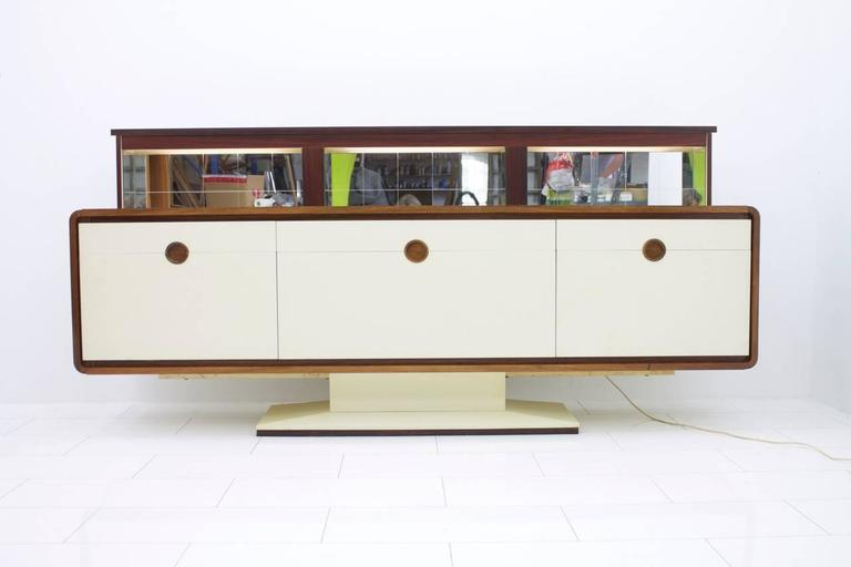 Sideboard With An Electric Mirrored Bar 1970s, James Bond 007 2