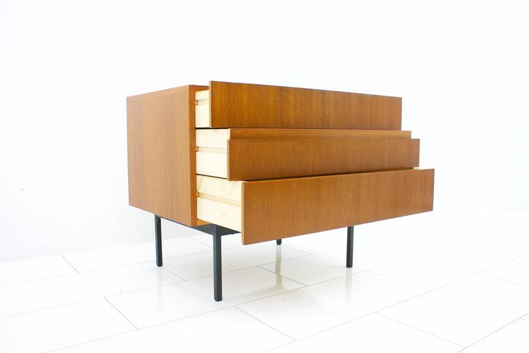 German Teak Dresser or Small Sideboard by Dieter Waeckerlin for Behr, 1950s For Sale