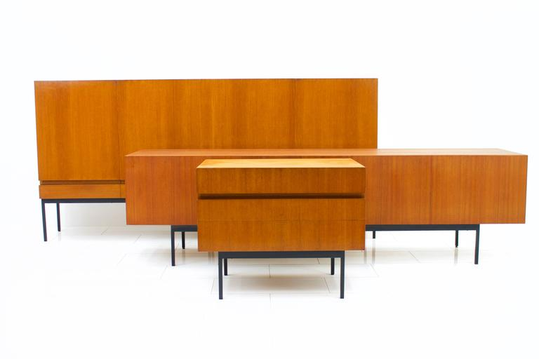 Mid-20th Century Teak Dresser or Small Sideboard by Dieter Waeckerlin for Behr, 1950s For Sale