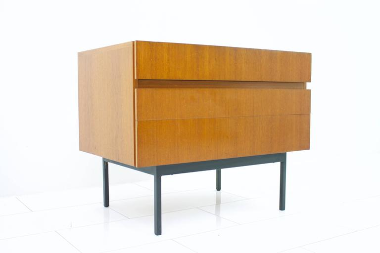 Rare teak dresser or small sideboard by Dieter Waeckerlin for Behr, 1950s.