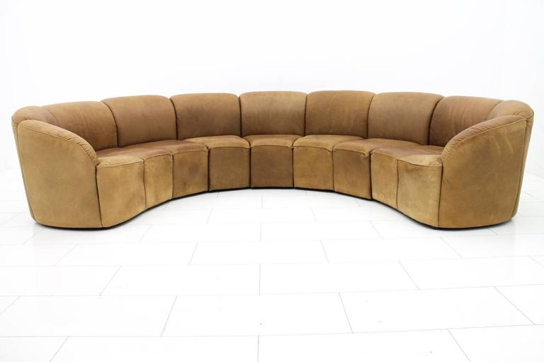 Leather lounge sofa by walter knoll 1960s at 1stdibs for Sofa 70 cm profundidad