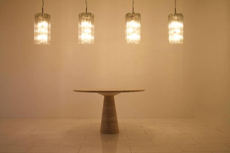 Mid-Century Modern Set of Eight Large Glass Chandeliers by Doria, 1960s For Sale
