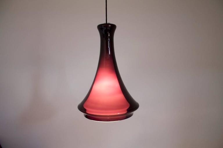 Jo Hammerborg Glass Pendant for Fog & Morup, 1970s In Good Condition In Frankfurt / Dreieich, DE