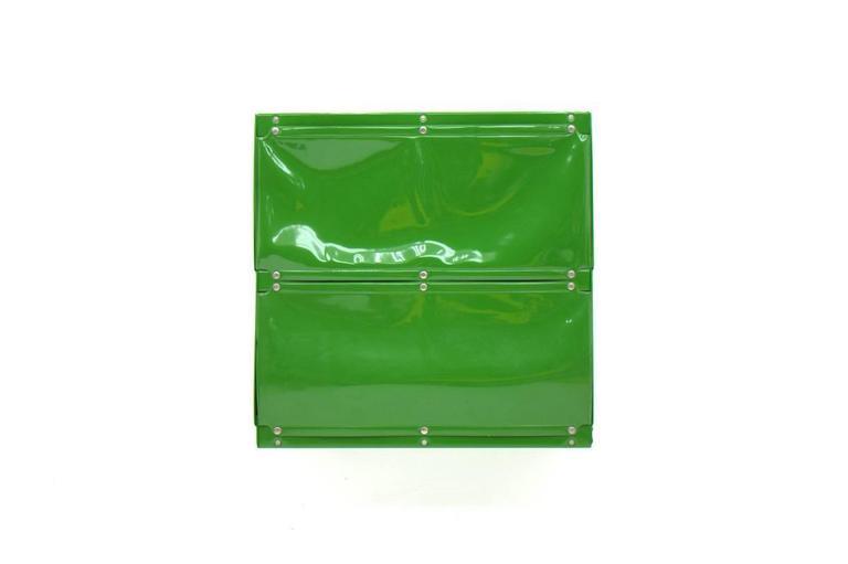 Mid-Century Modern Otto Zapf Green Softline Plastic Shelf, Germany, 1971 For Sale