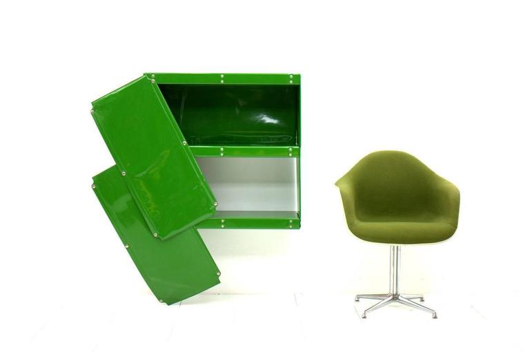Otto Zapf Green Softline Plastic Shelf, Germany, 1971 In Good Condition For Sale In Frankfurt / Dreieich, DE