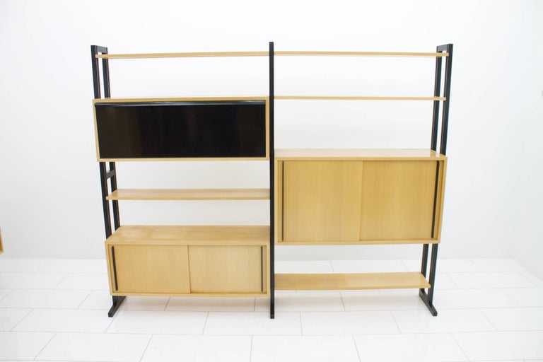 Very rare freestanding shelf system by Alfred Altherr for Freba Switzerland 1955.