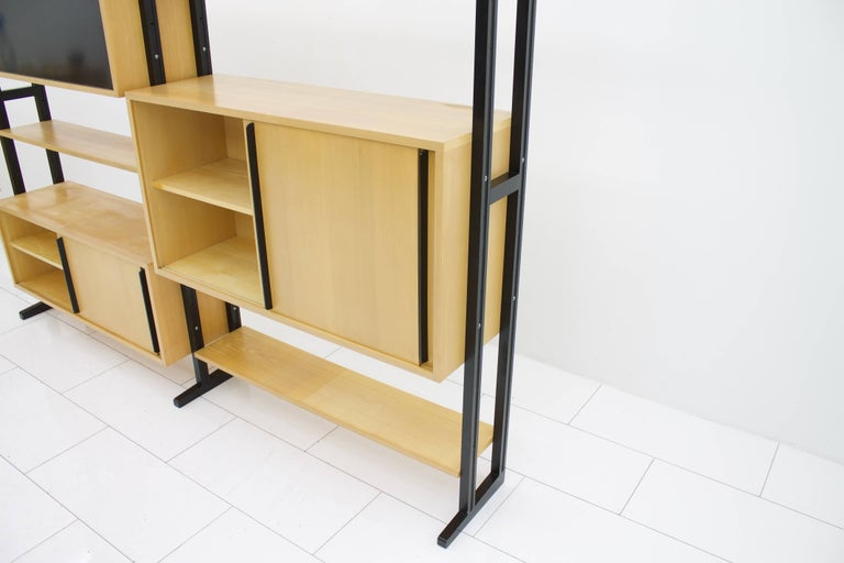 Mid-Century Modern Freestanding Shelf by Alfred Altherr for Freba Switzerland, 1955 For Sale