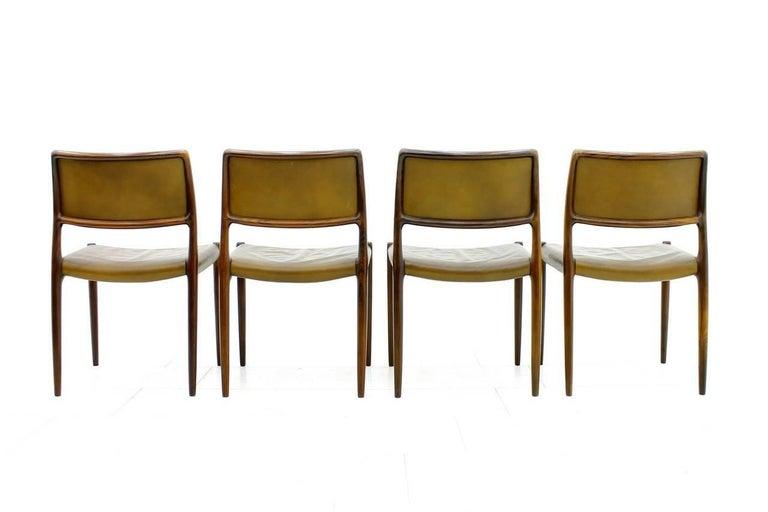Niels O. Møller Dining Room Chairs Model 80 Danish Modern For Sale 1