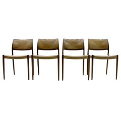 Niels O. Møller Dining Room Chairs Model 80 Danish Modern