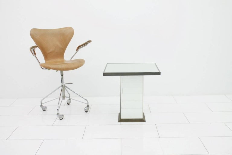 Fully Mirrored Side or End Table, France, 1970s For Sale 1