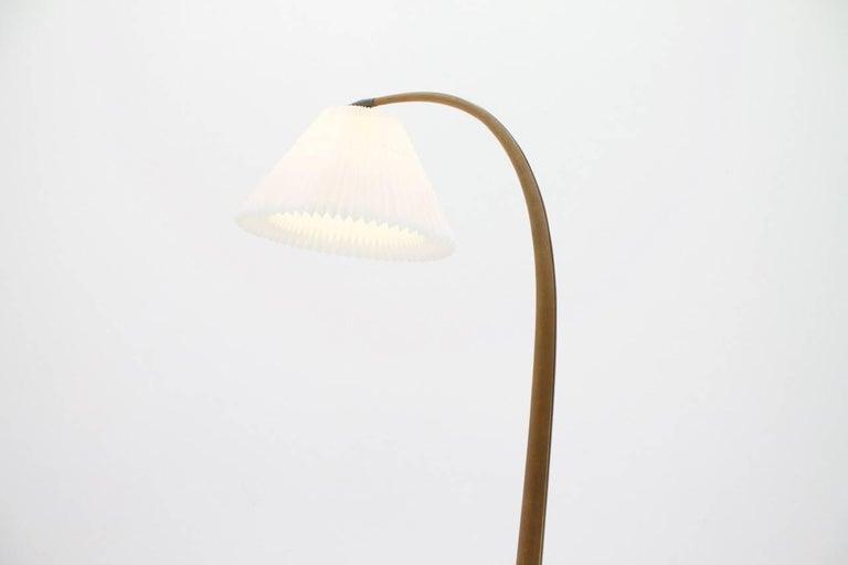Danish Severin Hansen Jr. Teak Floor Lamp 'Bridge' Denmark 1950s For Sale