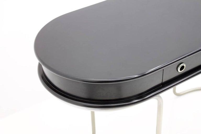 Black Ladies Desk Vanity Console Table, Italy, 1960s In Good Condition For Sale In Frankfurt / Dreieich, DE