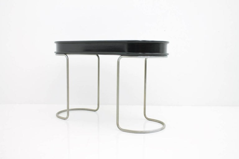 Black Ladies Desk Vanity Console Table, Italy, 1960s For Sale 3