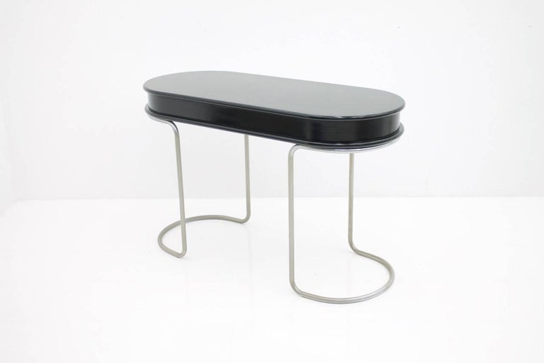 Black Ladies Desk Vanity Console Table, Italy, 1960s For Sale 2