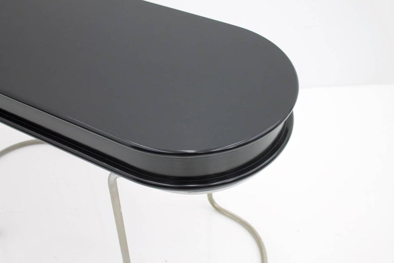 Black Ladies Desk Vanity Console Table, Italy, 1960s For Sale 4