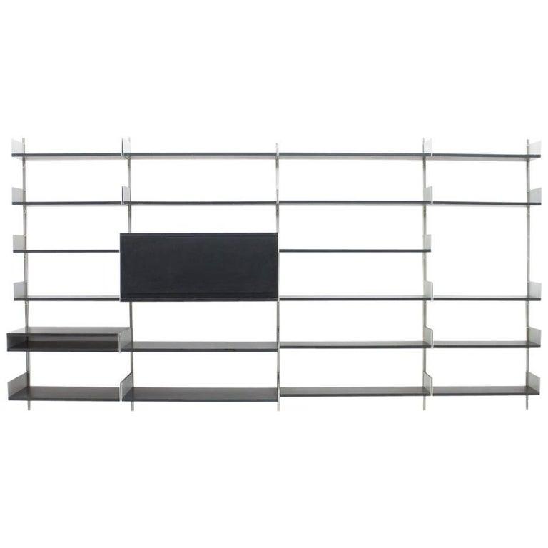 Black Shelf System 606 by Dieter Rams, Vitsoe, 1966