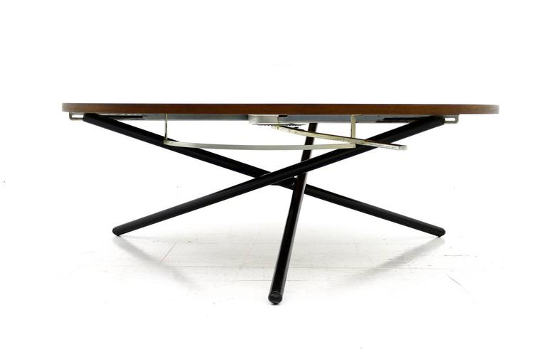 Rare J Rg Bally Adjustable Dining Or Coffee Table Switzerland 1951 At 1stdibs