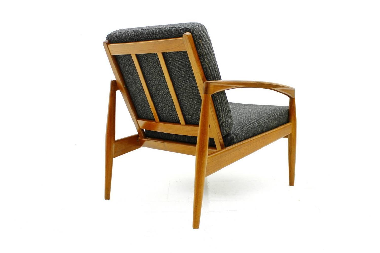 Kai kristiansen teak single lounge chair paper knife chair denmark 1955 at 1stdibs - Kai kristiansen chair ...