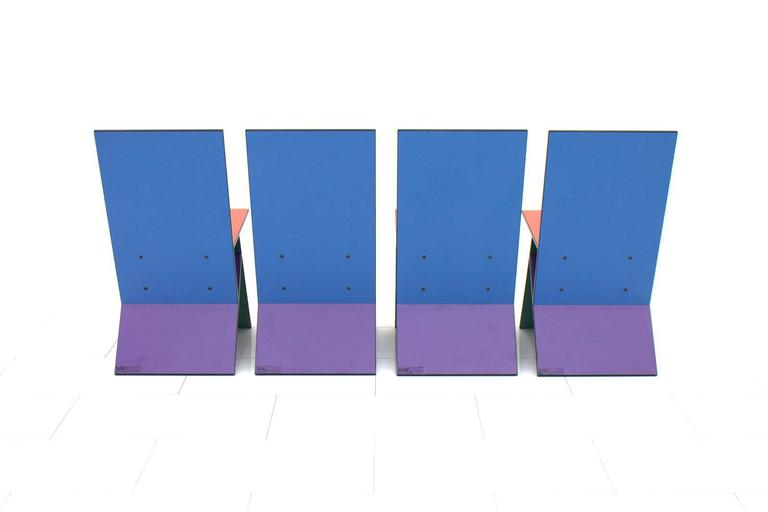 Danish Set of Four Verner Panton Vilbert Chairs, 1993 For Sale
