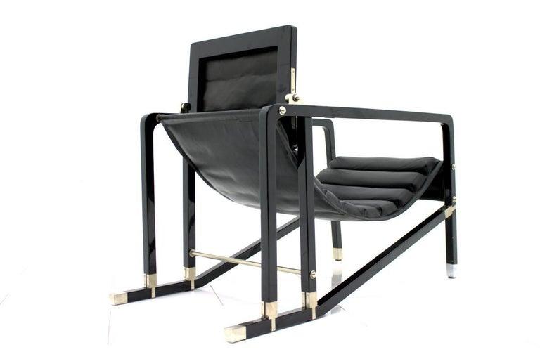 Mid-Century Modern Eileen Gray Transat Lounge Chair by Ecart International, 1980s