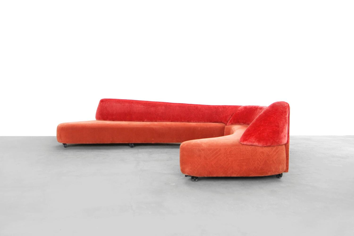 Asymmetric Sofa By Yasmine Mahmoudieh Special Model Design 1996 For Sale At 1stdibs
