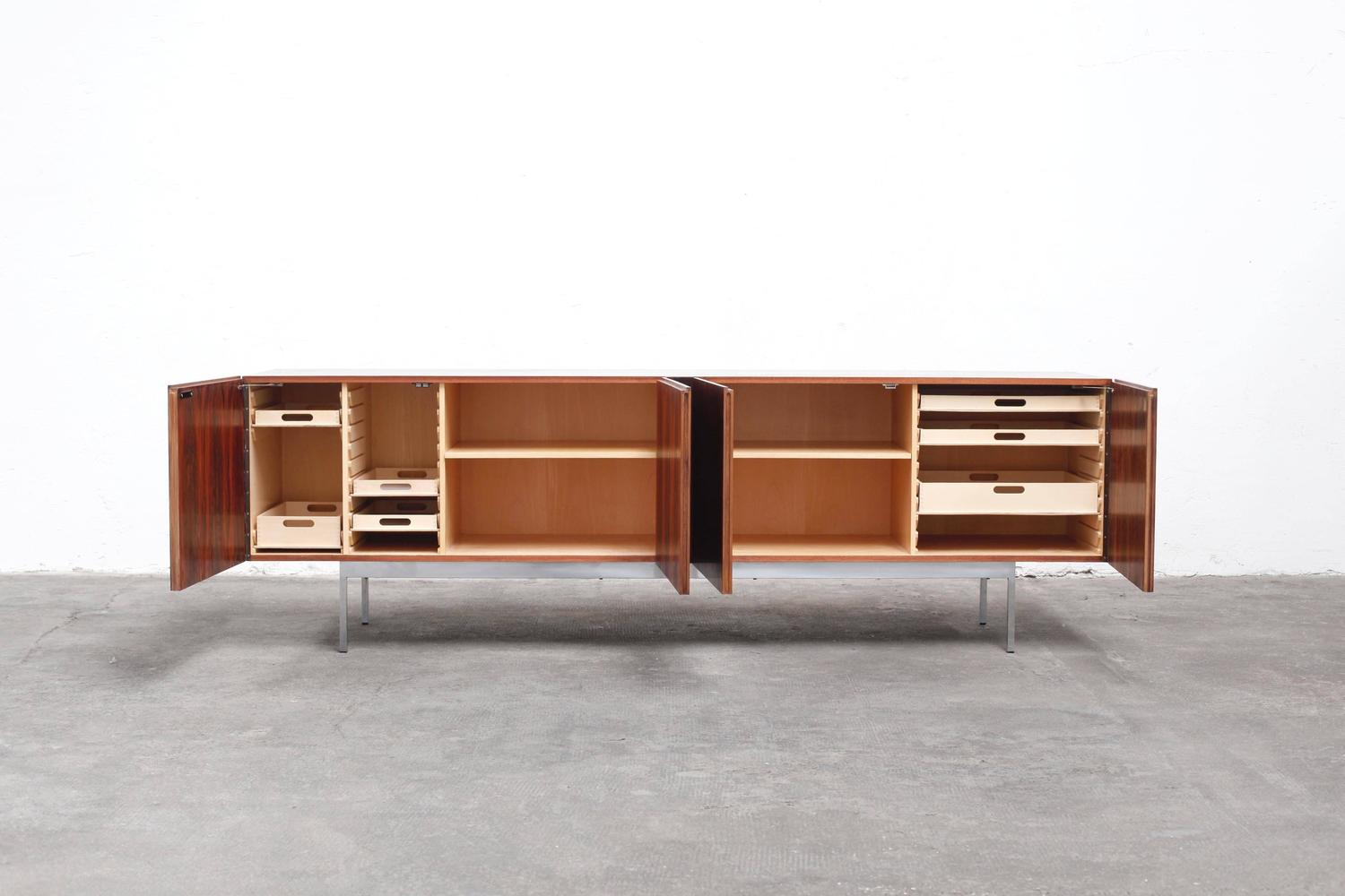 Rosewood sideboard by dieter w ckerlin b40 for behr at 1stdibs for Sideboard 40er