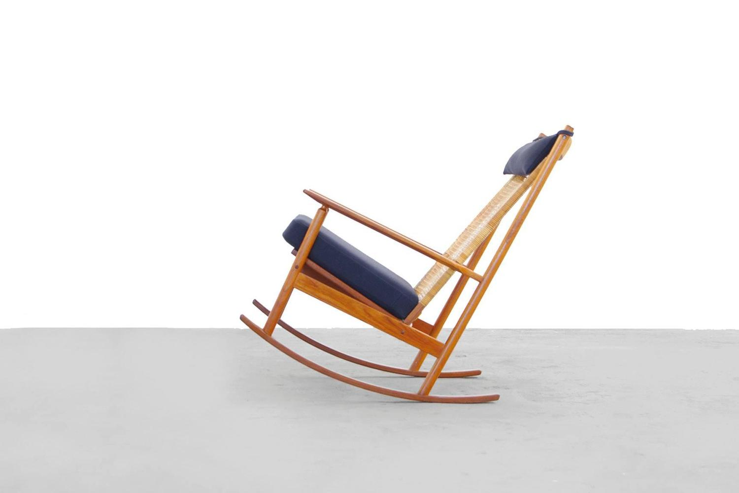 Teak rocking chair by danish designer hans olsen model 532 for Designer chairs from the 60s