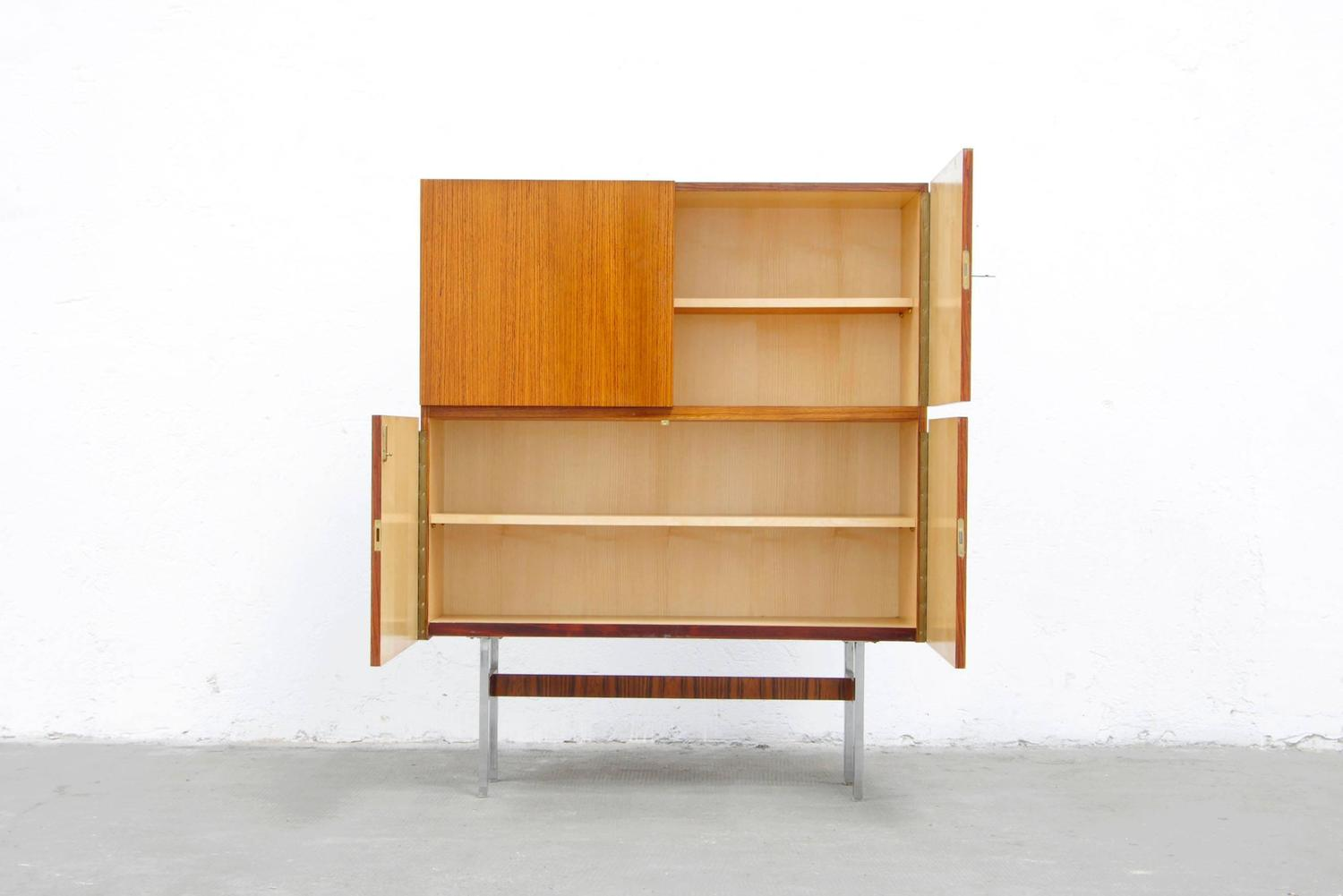 rosewood teak cabinet by musterring credenza 60s sideboard. Black Bedroom Furniture Sets. Home Design Ideas