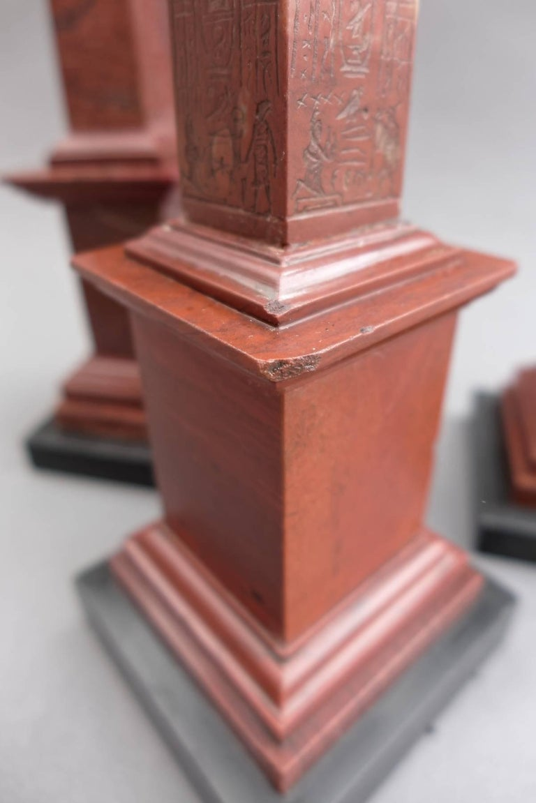 A rare group of three very finely carved 19th century Grand Tour period