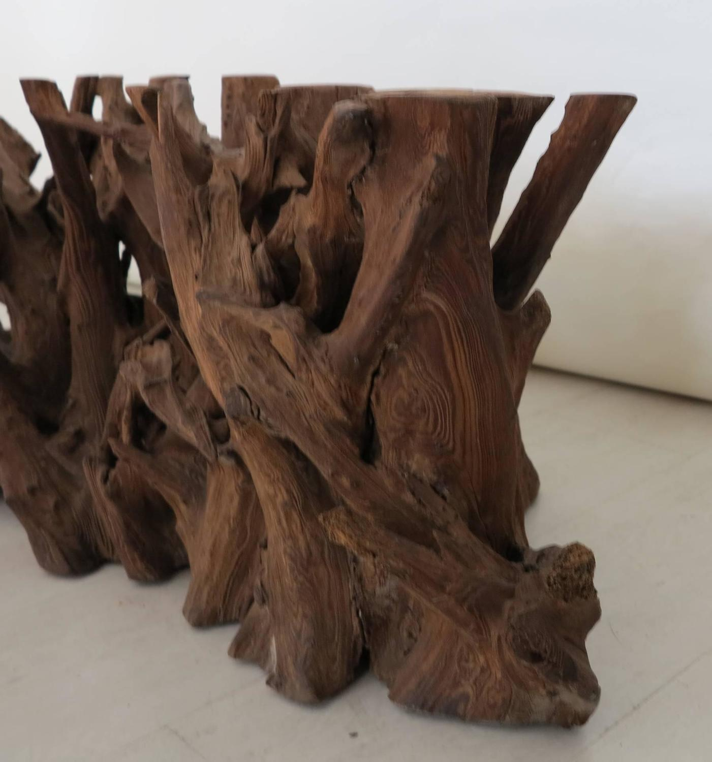 vintage driftwood coffee table base at 1stdibs. Black Bedroom Furniture Sets. Home Design Ideas
