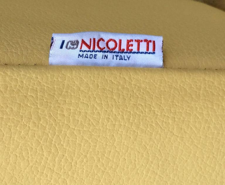 Nicoletti Leather Chaise Lounge 1