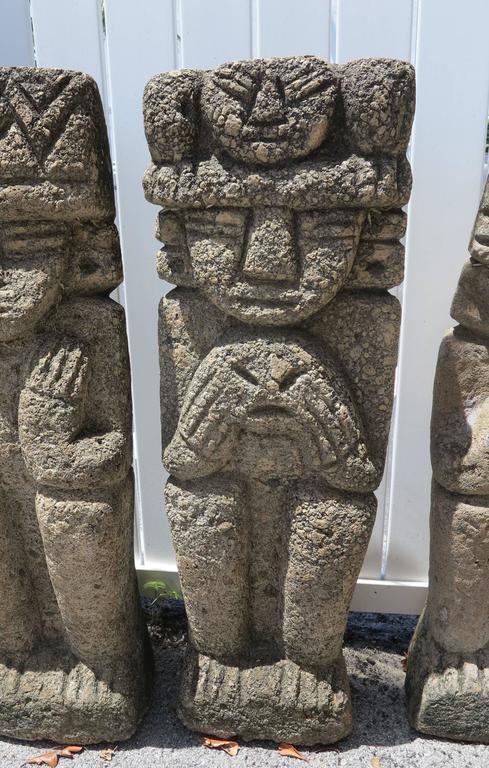 Unknown Cast Stone 4 Wise Tiki Monkey Hear No Evil See Speak
