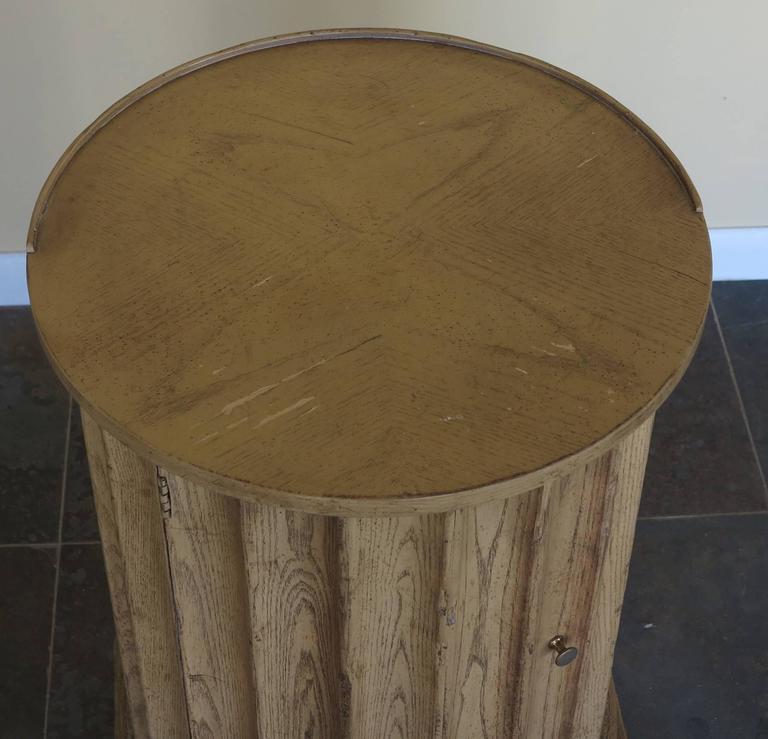 American Vintage Baker Column Side Table For Sale
