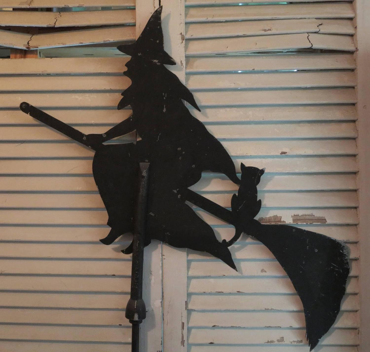 Vintage Witch Weather Vane For Sale At 1stdibs