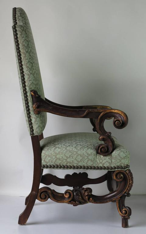 Vintage oversized carved wooden chairs baroque for sale at for Carved wooden chaise